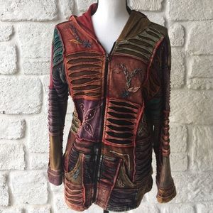 Rising International Boho Hoodie Jacket / Size Med
